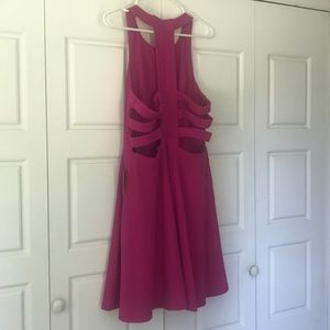 NWT XL LuLus Magenta dress with open back!